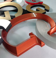 gemini lettering, Rochester Minnesota. Custom dimensional letters